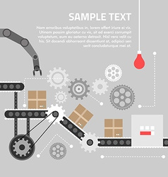 Flat design concept for technlology process vector