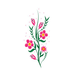 Flowers strips icon vector