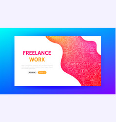 freelance work landing page vector image