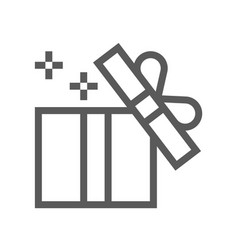 gift and surprise line icon vector image