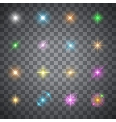 Glowing flare vector