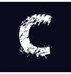 Grunge letter C vector