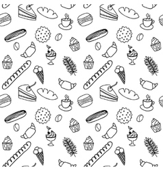 Hand drawn seamless pattern for adult coloring vector