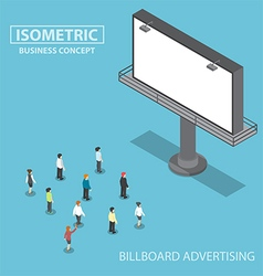 Isometric business people standing in front lar vector