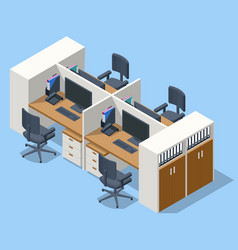 Isometric massive computer table with four vector