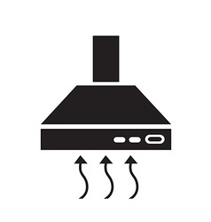 Kitchen hood icon symbol vector image
