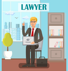 Lawyer legal advisor flat banner template vector