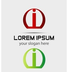 Letter i logo Creative concept icon vector image