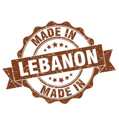 made in lebanon round seal vector image