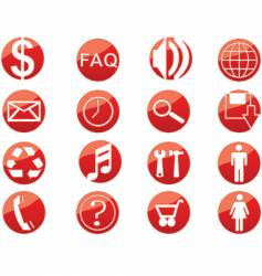 media web buttons vector image