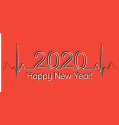 medical christmas banner 2020 happy new year vector image