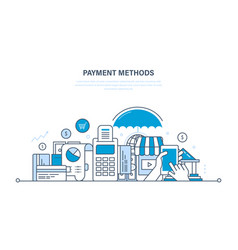 methods and forms of payment cards payments vector image