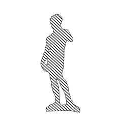 Monochrome silhouette of sculpture david made by vector