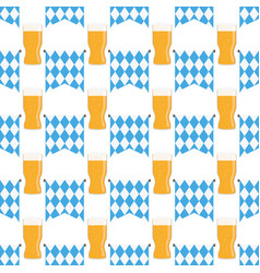 Munich beer festival pattern vector