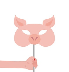 Pig Mask vector image