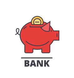 Piggy bank cash investment banking concept vector