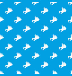 Pipe water pattern seamless blue vector