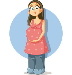 Pregnant woman with swollen elephant feet vector