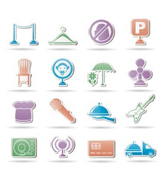 Restaurant and night club icons vector