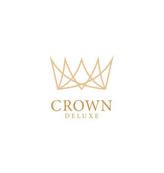 royal crowns delux vector image