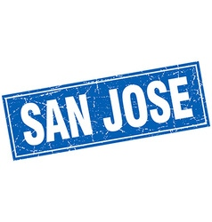 San Jose blue square grunge vintage isolated stamp vector