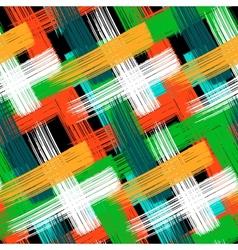 Seamless bold plaid pattern vector