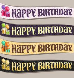 set birthday ribbons vector image