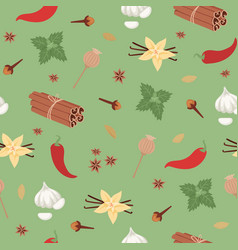spices seamless pattern spicy aroma and flavor vector image