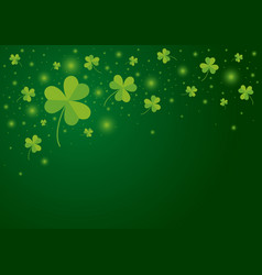 st patricks day background design of shamrock vector image