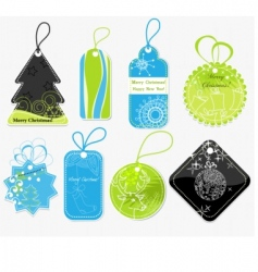 stylish christmas price tags vector image