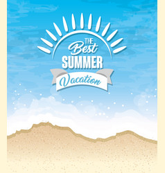 summer beach icon vector image