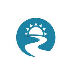 sun river logo vector image