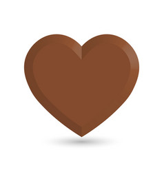 sweet brown chocolate heart love and valentines vector image