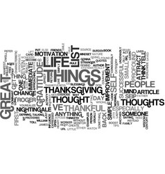 The art of thankfulness text background word vector