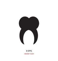 Tooth Simple Icon vector image vector image