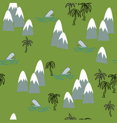 tropical island repeat semaless vector image