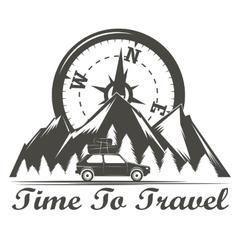 Wilderness travel emblem vector