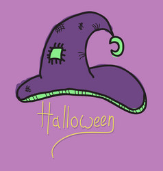 Witch hat isolated on background halloween vector
