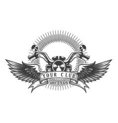 biker club retro emblem vector image vector image