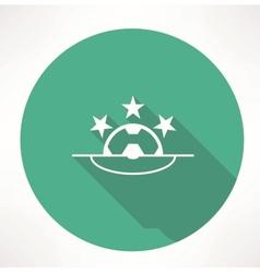 Football League icon vector image vector image