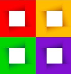 minimal decorative banners vector image