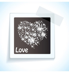 Paper tape love tag vector image