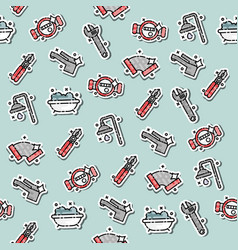 Plumbing concept icons pattern vector