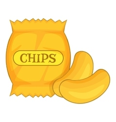 potato chips icon cartoon style vector image vector image