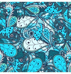 Seamless abstract hand-drawn waves pattern vector image