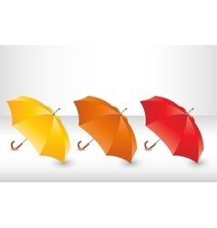 Set with umbrellas vector image