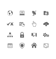 Web hosting icons vector image