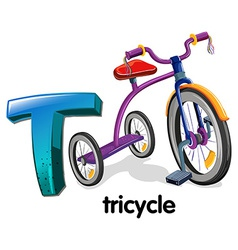 A letter t for tricycle vector