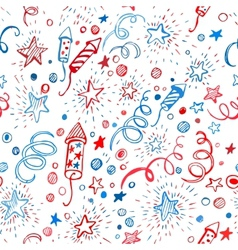 American Independence Day Hand-drawn pattern vector image vector image