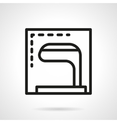 Golf club simple line icon vector image vector image